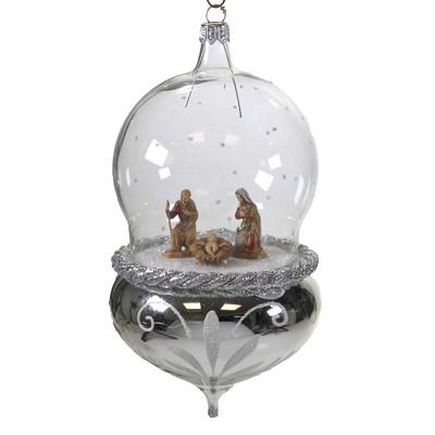 """Italian Ornaments 7.0"""" Nativity In Globe Ornament Italian Holy Family  -  Tree Ornaments"""