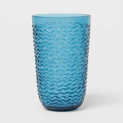 19oz Plastic Wave Texture Tall Tumbler Blue - Opalhouse™