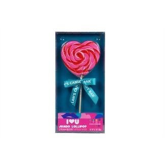 Dylans Candy Bar Valentines Day Jumbo Strawberry Lollipop - 6.7oz