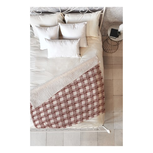 """Berry Red Gingham Check Throw Blankets 50""""X60"""" - Deny Designs - image 1 of 1"""
