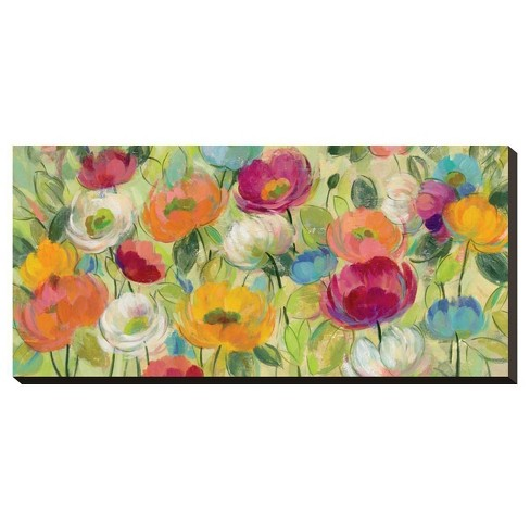 Chartreuse Garden By Silvia Vassileva Stretched Canvas Print - Art.Com - image 1 of 2