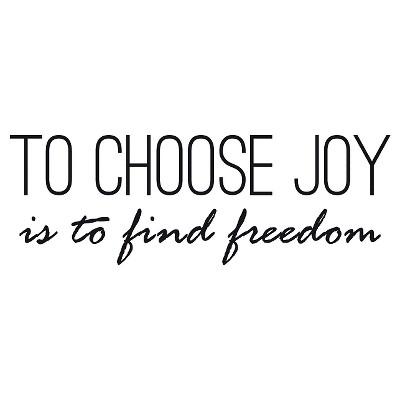 To Choose Joy Wall Decal - Black