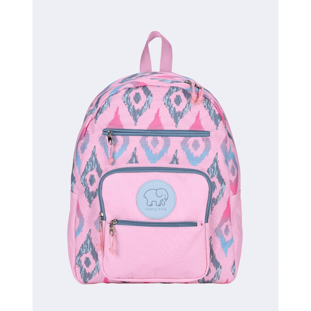 "Image of ""Ivory Ella 16.5"""" Tribal Ikat Backpack - Magenta, Size: Small, Blue"""