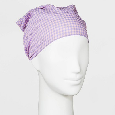 Gingham Patterned Headscarf - Wild Fable™ Purple