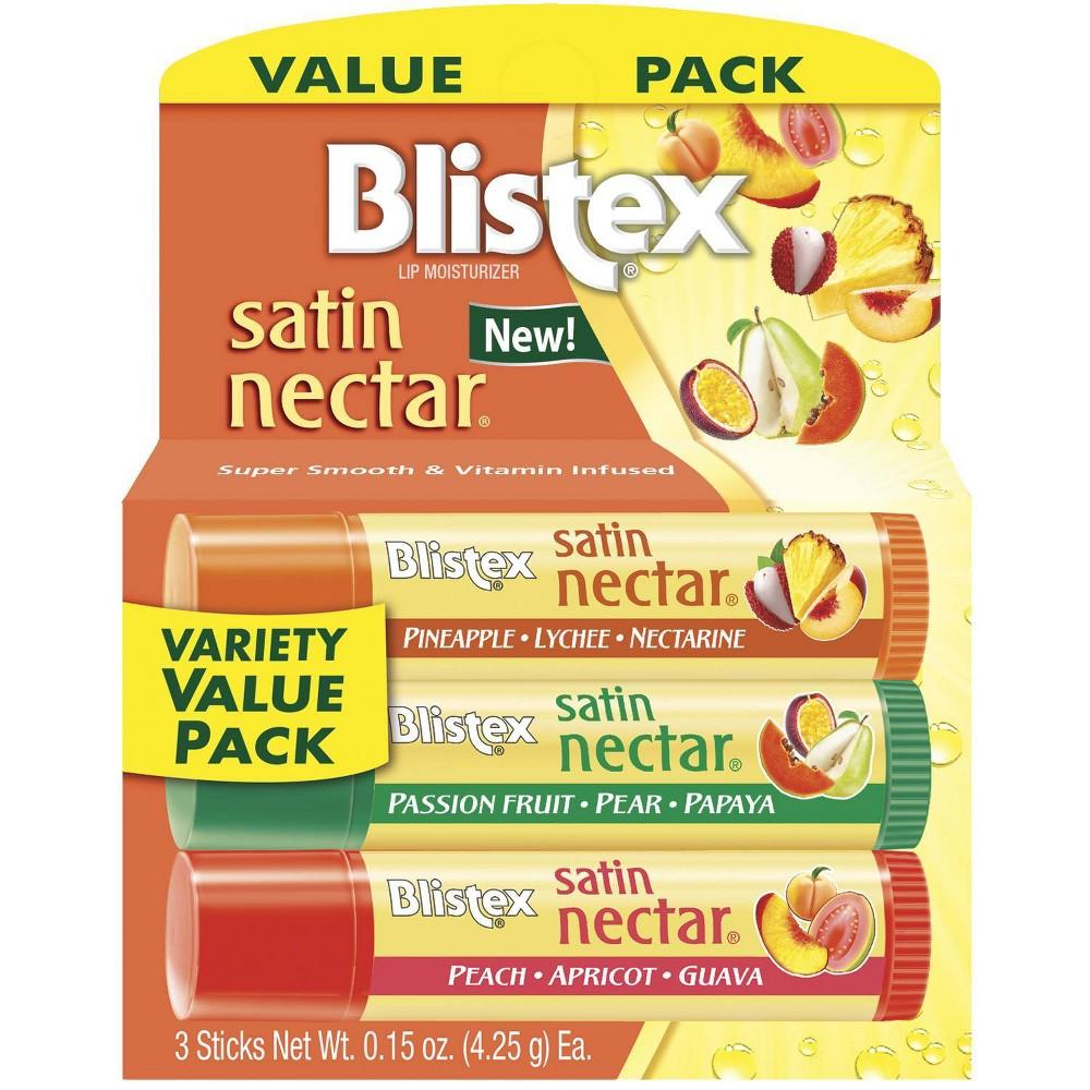 Blistex Lip Moisturizer Satin Nectar Variety Value Pack 3pk 0 45oz