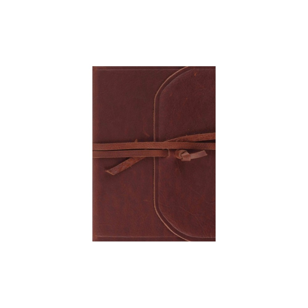 Single Column Journaling Bible : English Standard Version, Brown, Natural Leather, Flap With Strap