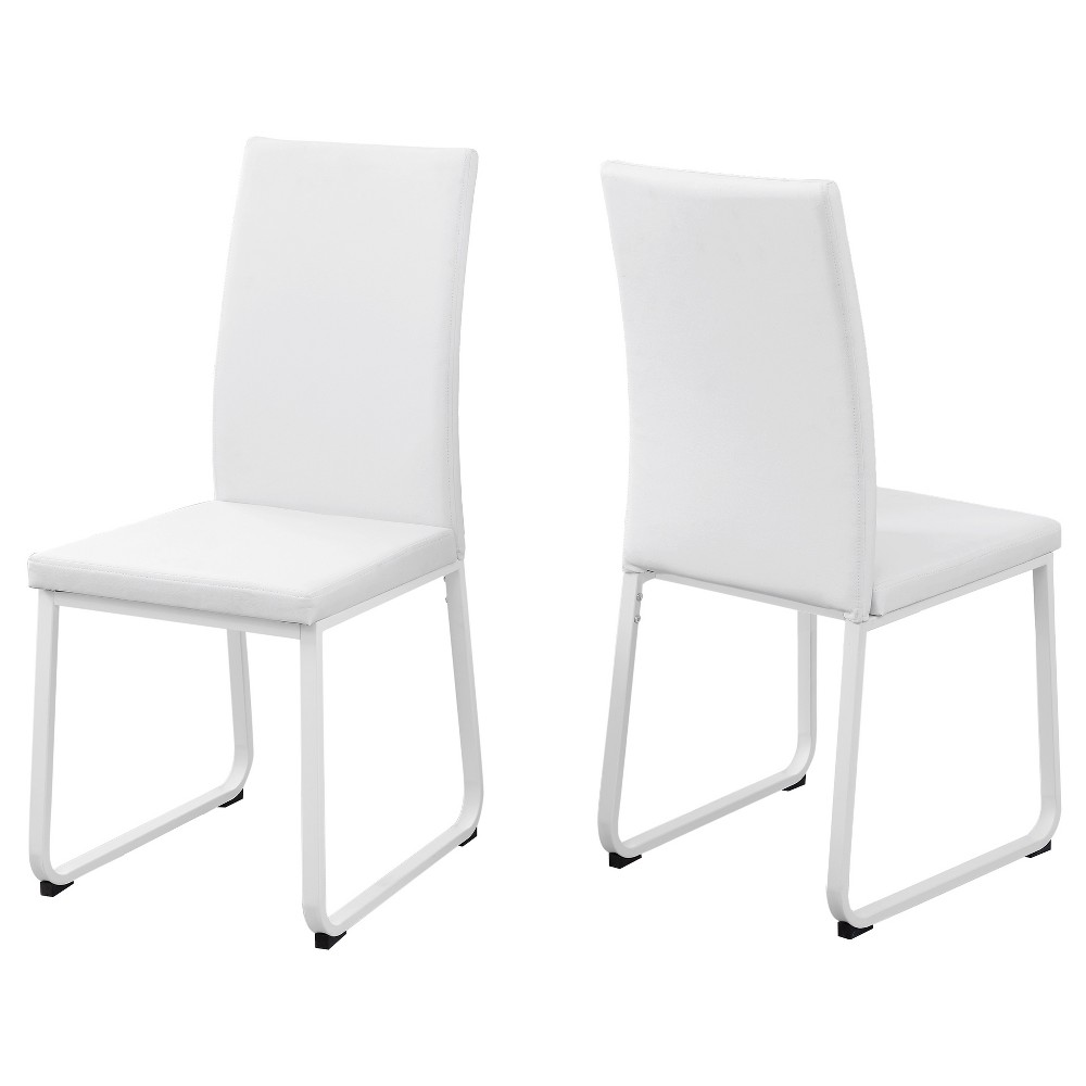 Cool Dining Chair 2 Piece White Leather Everyroom Gmtry Best Dining Table And Chair Ideas Images Gmtryco