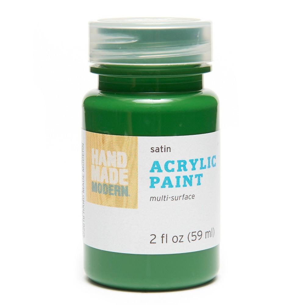 Image of 2oz Satin Acrylic Paint - Honey Hand Made Modern , Norfolk Green