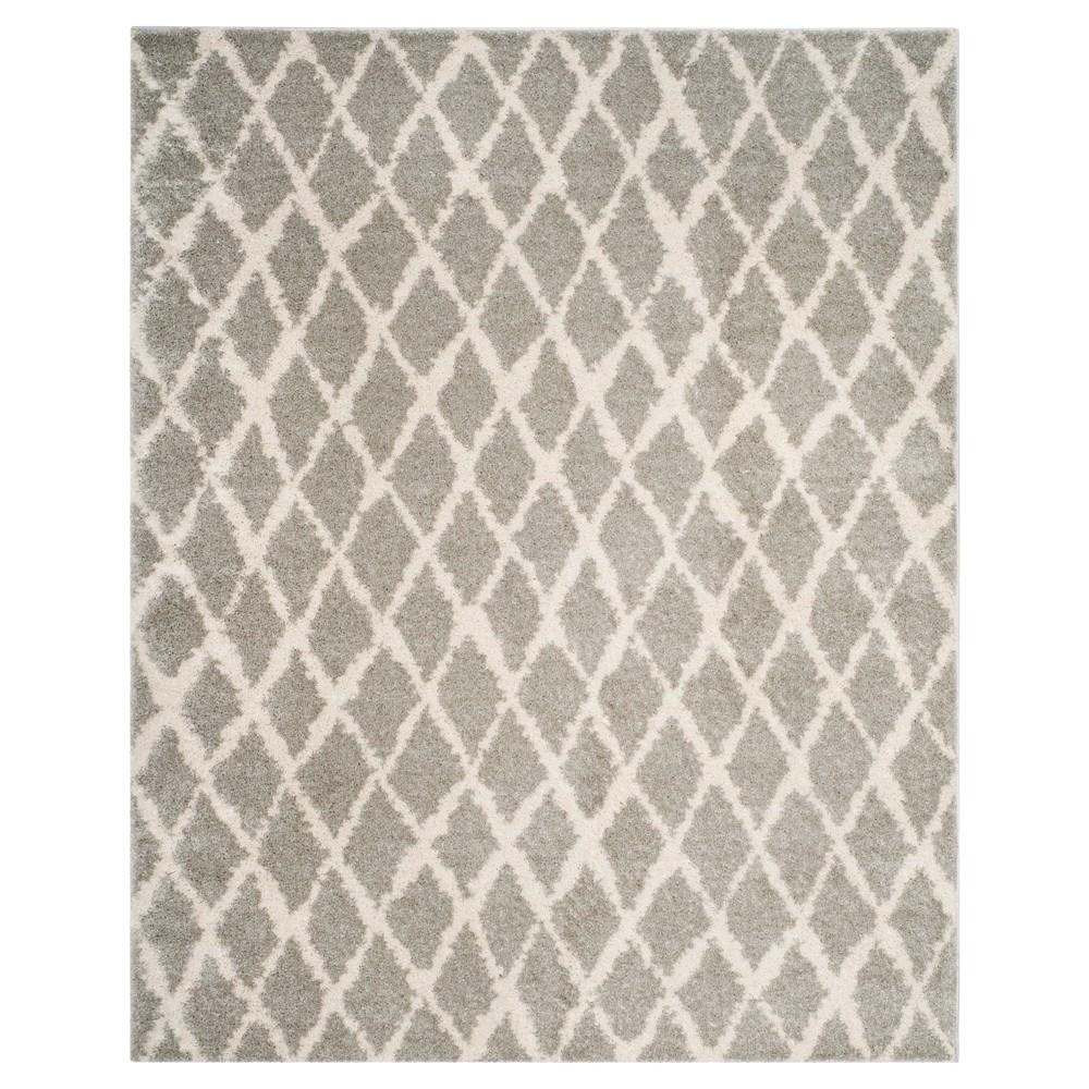 Light Cream Trellis Loomed Area Rug 8'x10' - Safavieh, Gray Off-White