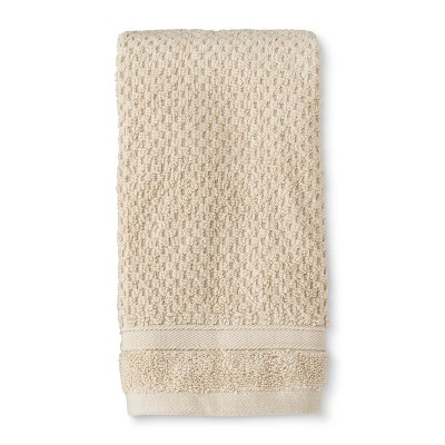 Hand Towel Performance Texture Bath Towels And Washcloths Bare Canvas - Threshold™