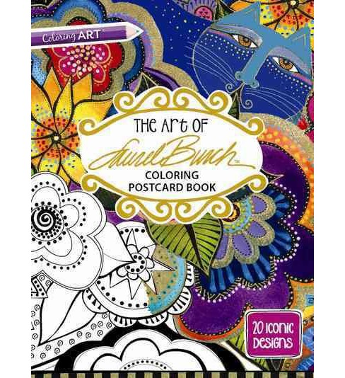 Art of Laurel Burch Coloring Postcard Book : 20 Iconic Designs (Paperback) - image 1 of 1