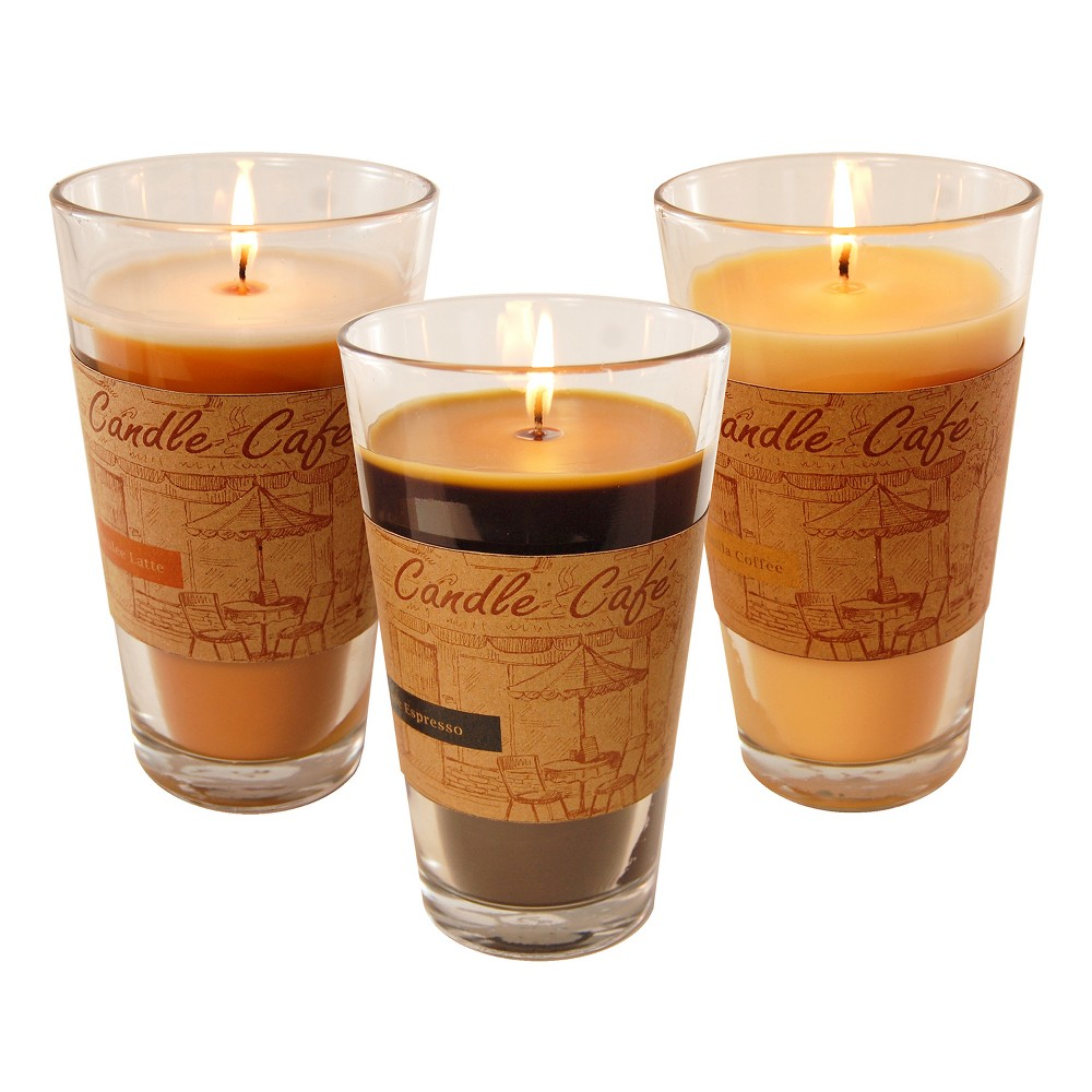 Image of 11oz 3ct Café Collection Scented Candle Set - Lumabase