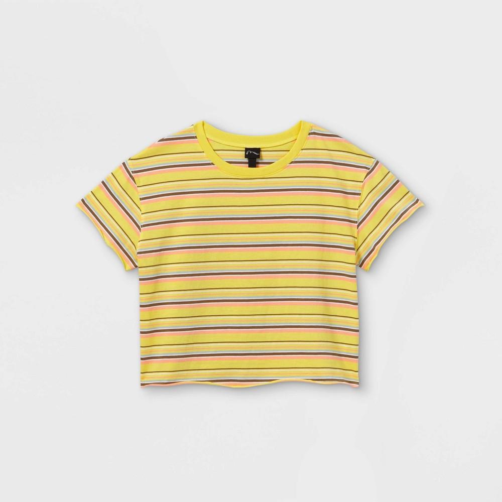 Girls 39 Boxy Short Sleeve T Shirt Art Class 8482 Yellow M
