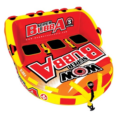 Wow Super Bubba Inflatable 3 Person Deck Seating Towable Water Floating Tube - image 1 of 4
