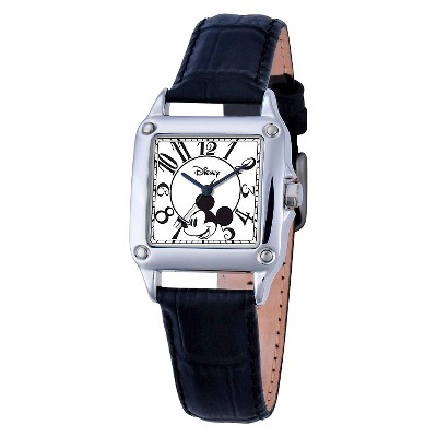 Women's Disney Mickey Mouse Perfect Square Watch - Black
