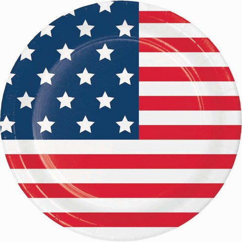 "10.25"" 10ct Flag Print Dinner Paper Plate - image 1 of 1"