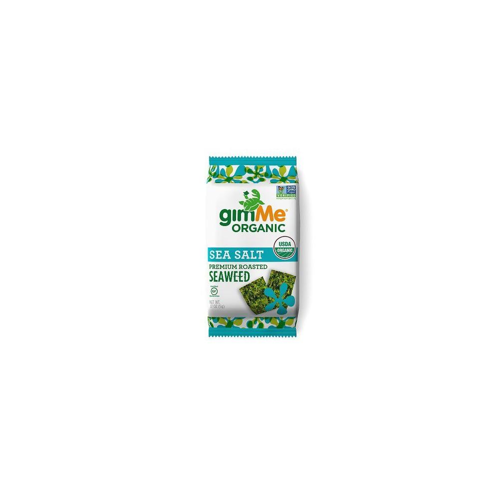 GimMe Organic Roasted Seaweed Snack Sea Salt .35 oz