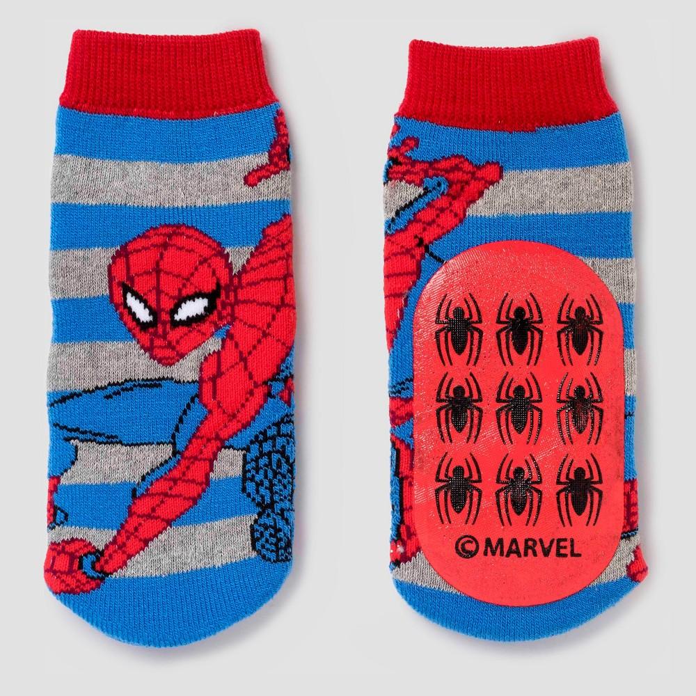 Toddler Boys' Spider-Man Slipper Socks - Red 4T-5T