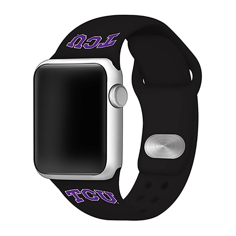 Ncaa Texas Christian University Horned Frogs Silicone Apple Watch Band 42mm