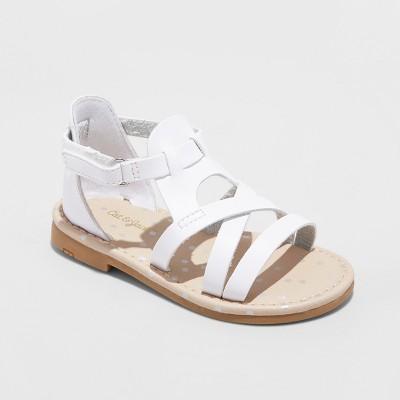 86926ee590c6 Toddler Girls  Kelsa Two Piece Slide Sandals – Cat   Jack™ White 11 ...