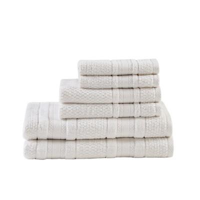 Roman Super Soft 6pc Cotton Bath Towel Set White (27x52 )