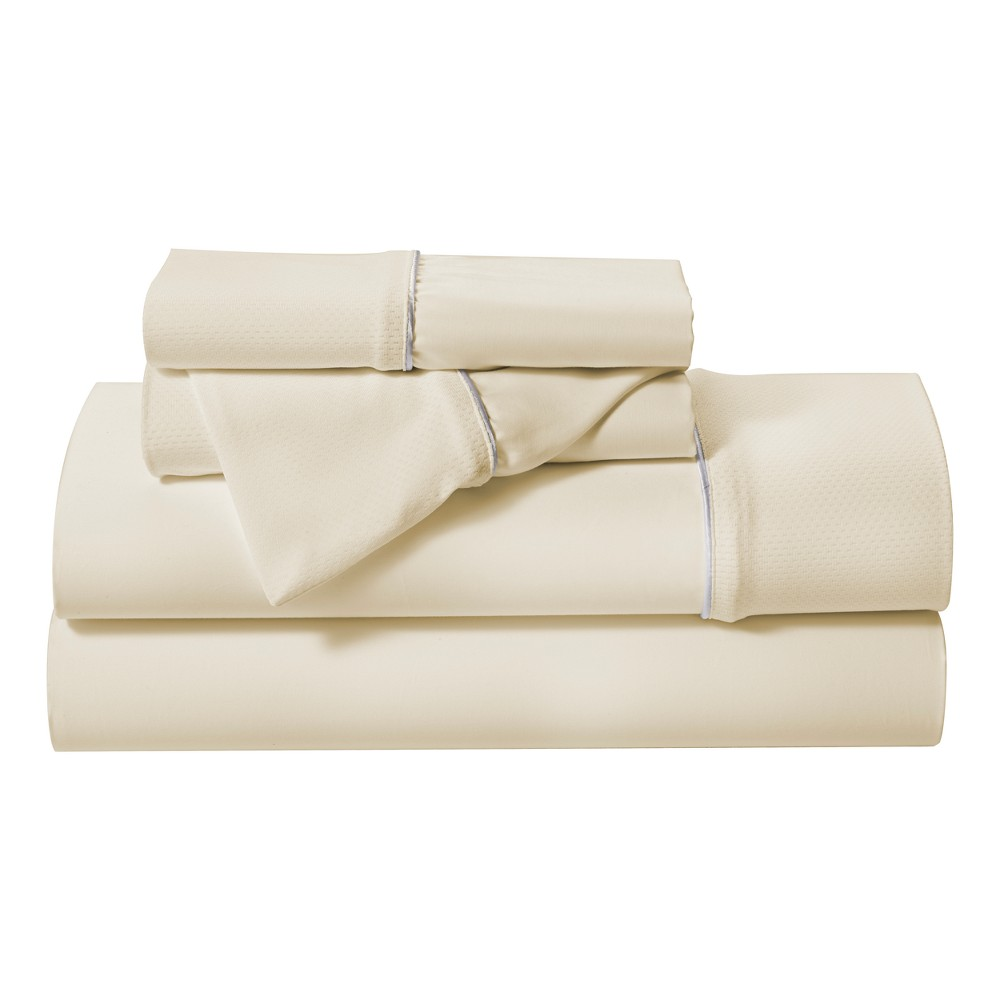 Image of Hyper-Cotton Performance Sheet Set (California King) Champagne - Bedgear, Beige