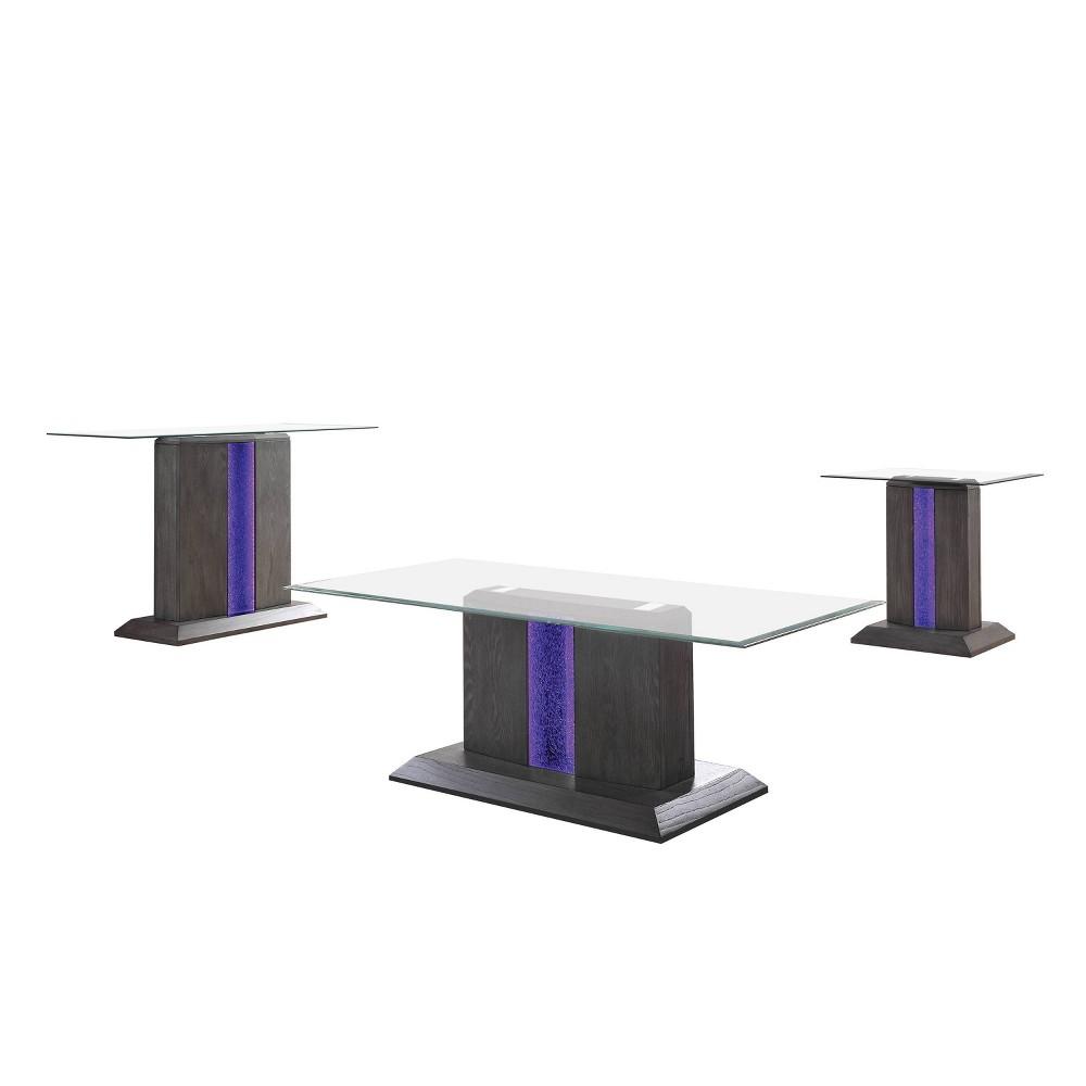 Reviews 3pc Danziger Coffee Table Set Gray - miBasics
