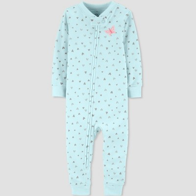 Baby Girls' Butterfly Pajama Jumpsuit - little planet organic by carter's Blue 5T