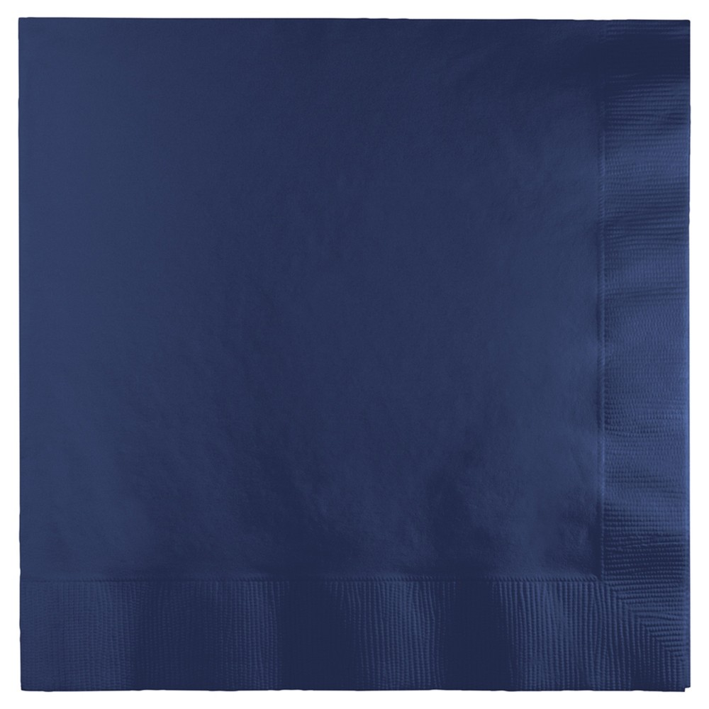 Image of 50ct Navy Blue Napkins, Disposable Napkins