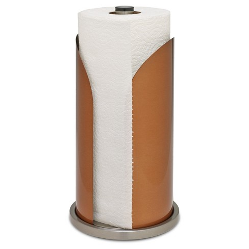 Honey Can Do Steel Paper Towel Holder Copper
