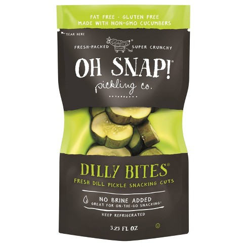 OH SNAP! Dilly Bites Fresh Dill Pickle Snacking Cuts - 3.25 fl oz - image 1 of 4