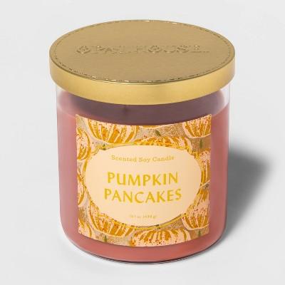 15.1oz Lidded Glass Jar 2-Wick Pumpkin Pancakes Candle - Opalhouse™