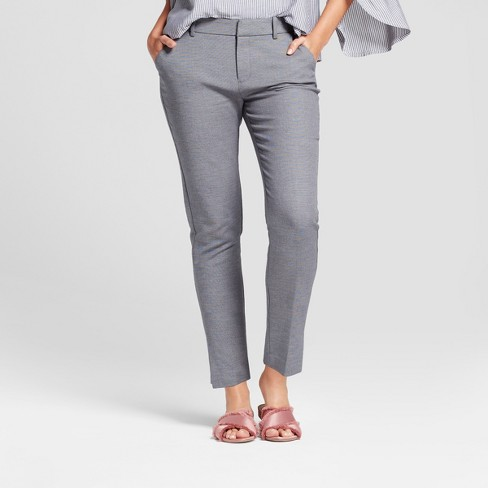 Women's Straight Leg Slim Ankle Pants - A New Day™ - image 1 of 3