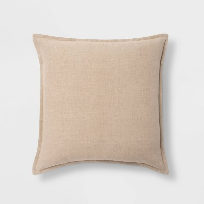 Square Linen Pillow Neutral - Threshold™