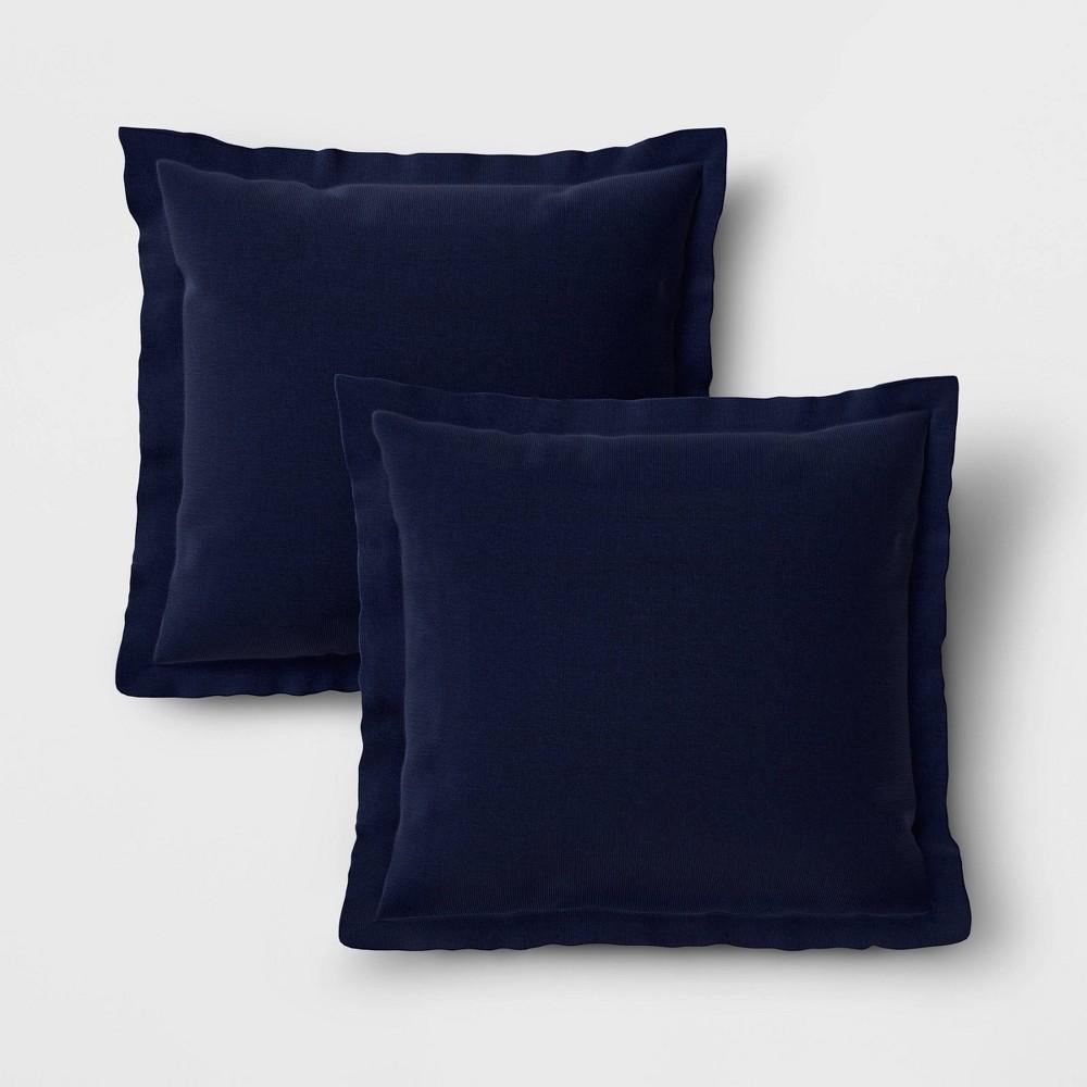 Image of 2pk Outdoor Throw Pillows DuraSeason Fabric Navy - Threshold