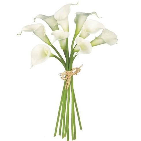 Sullivans Artificial Calla Lily Bouquet Stem 14 H White Target