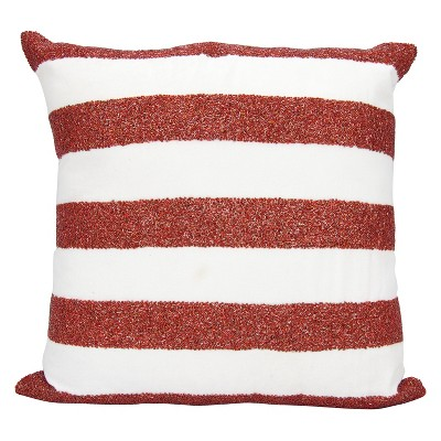Luminecence Flag Stripes Oversize Square Throw Pillow Red/White - Mina Victory