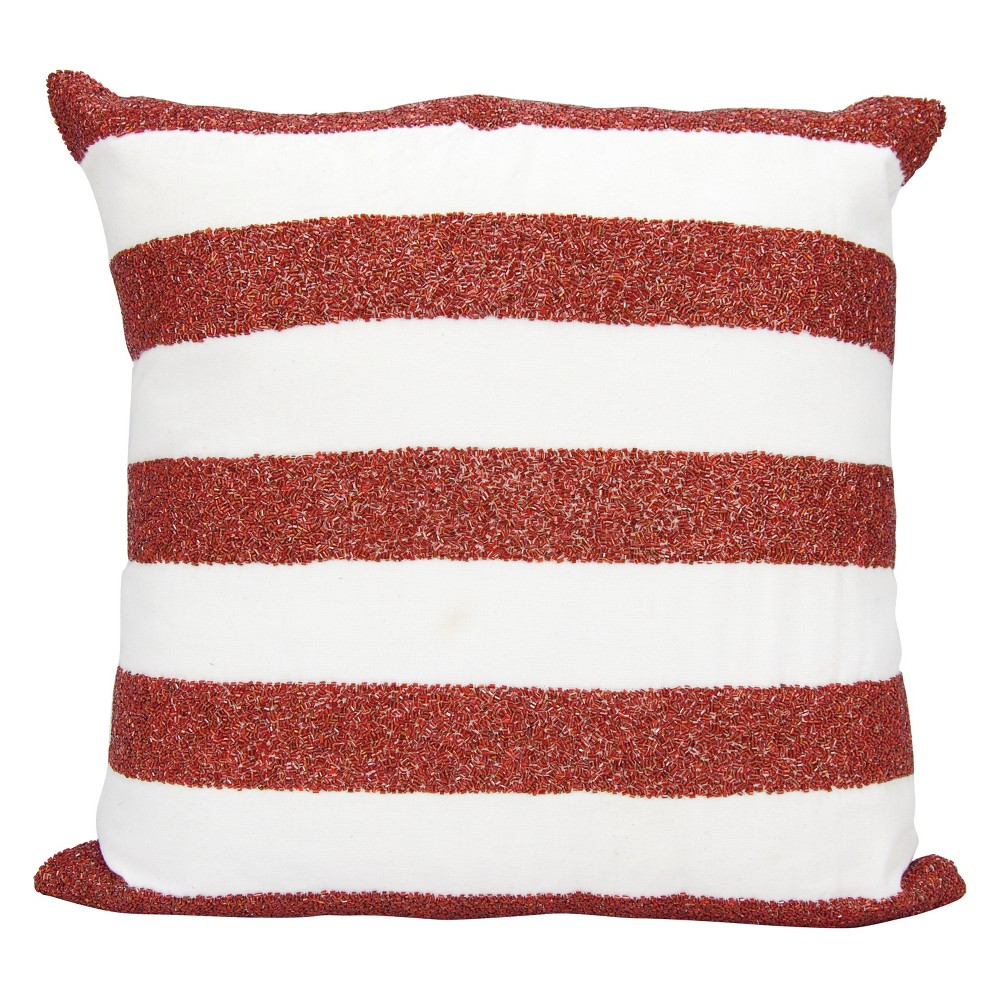 Image of Luminecence Flag Stripes Oversize Square Throw Pillow Red/White - Mina Victory, White Red