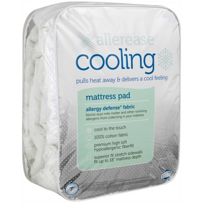 King Cooling Mattress Pad - Allerease