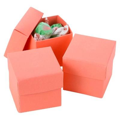 25ct Wedding 2 Piece Favor Box Coral