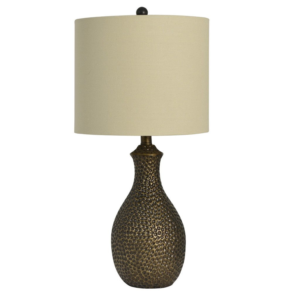 Hammered Table Lamp Bronze (Lamp Only) - Decor Therapy