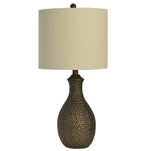 Hammered Table Lamp Bronze Lamp Only Decor Therapy Target