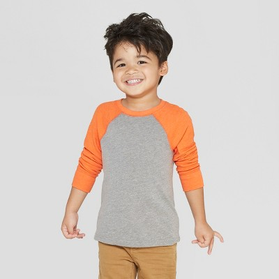 12eccd70f Toddler Boys' Thermal Raglan Long Sleeve T-Shirt - Cat & Jack™ Heather