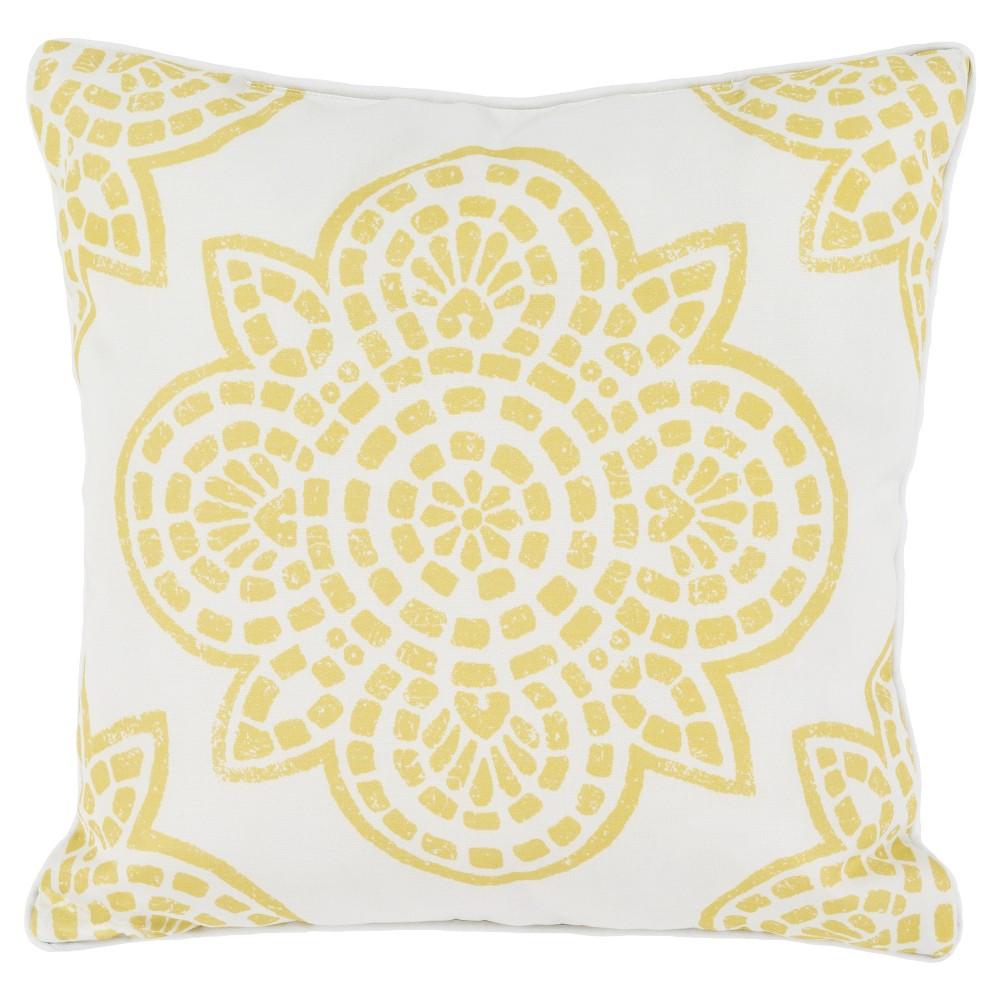 Gold Arcadenia Throw Pillow 20