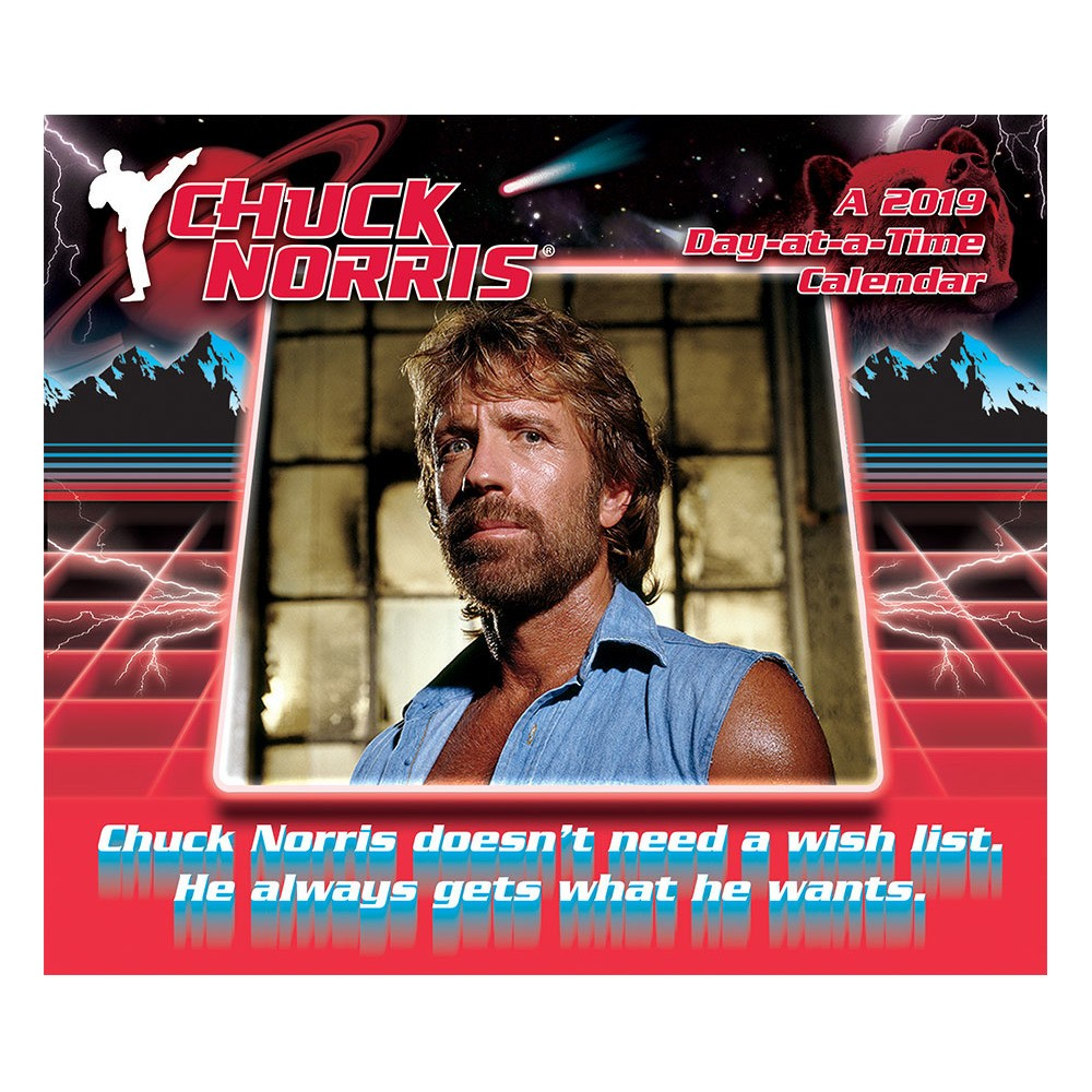 2019 Tented Desktop Calendar Chuck Norris - Trends International, Multi-Colored