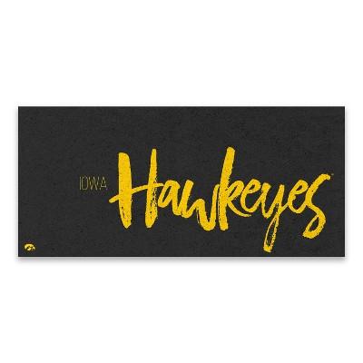 One Size Custom NCAA Legacy Iowa Hawkeyes Mini Canvas Art 9x9