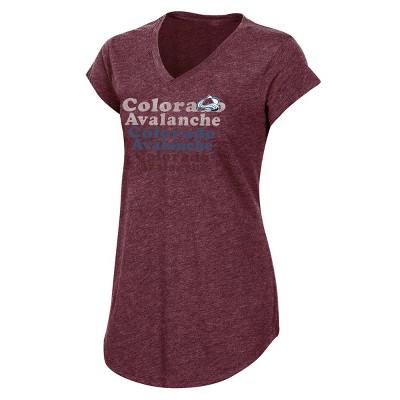 NHL Colorado Avalanche Women's Team Pride V-Neck T-Shirt - M