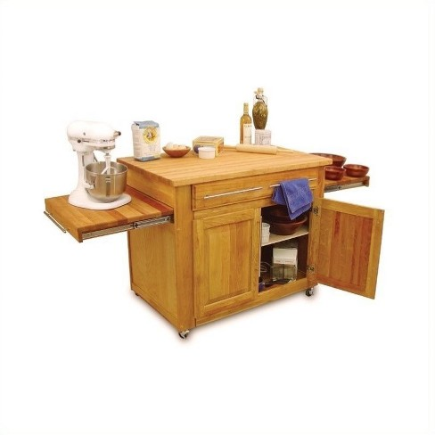 Wood Empire Mobile Butcher Block Kitchen Cart in Natural Brown - Catskill Craftsmen - image 1 of 1