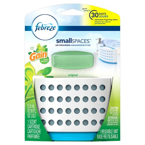 Febreze Small Spaces Air Freshener with Gain Original Scent Starter Kit - 1ct 5.5ml - image 1 of 6