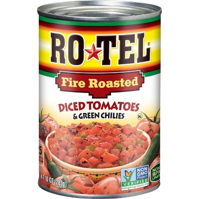 Rotel Fire Roasted Diced Tomatoes & Green Chilies - 10oz